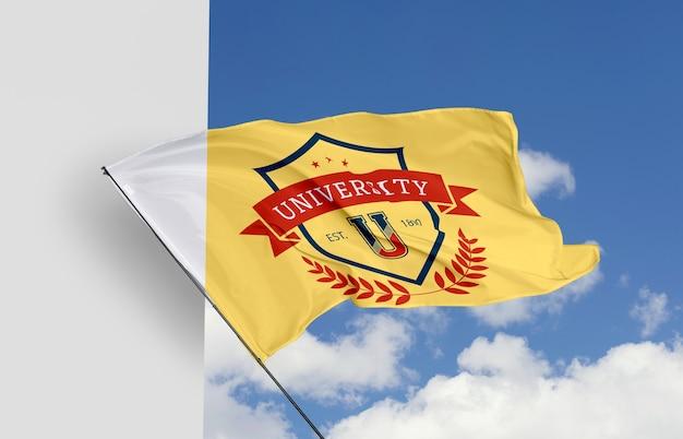 Maquete de conceito de bandeira de universidade Psd Premium