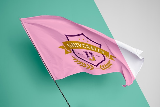 Maquete de conceito de bandeira de universidade Psd grátis