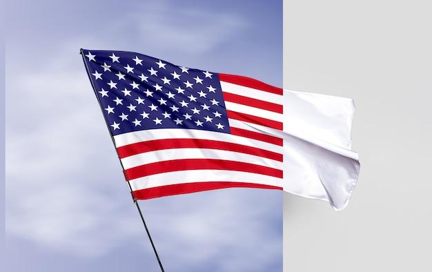 Maquete de conceito de bandeira dos eua Psd grátis
