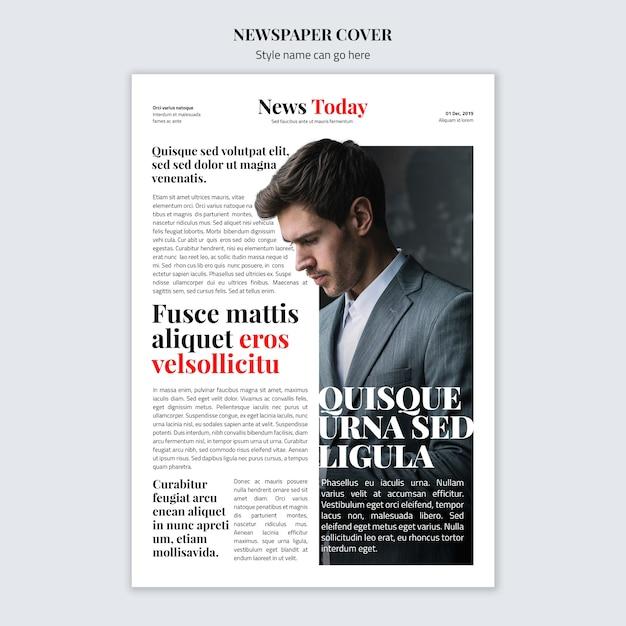 Maquete de conceito de capa de jornal Psd grátis