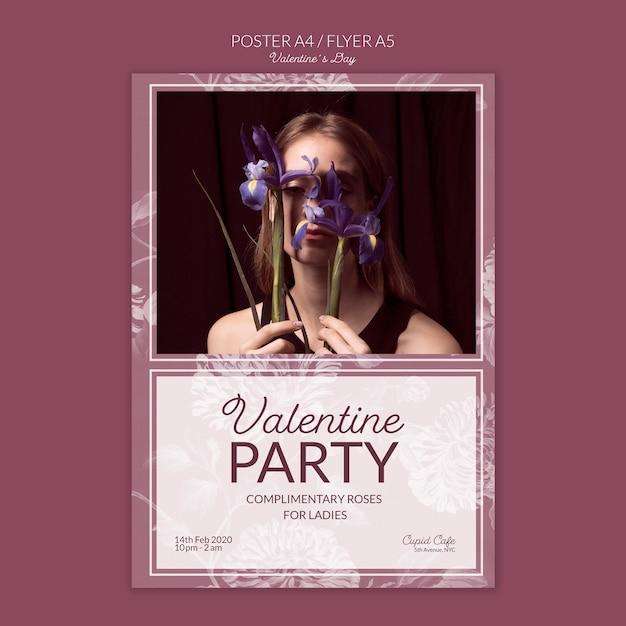 Maquete de conceito de cartaz de dia dos namorados Psd grátis