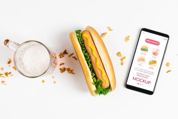 Maquete de conceito de comida americana Psd grátis