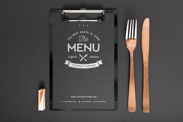 Maquete de conceito de menu de comida Psd grátis