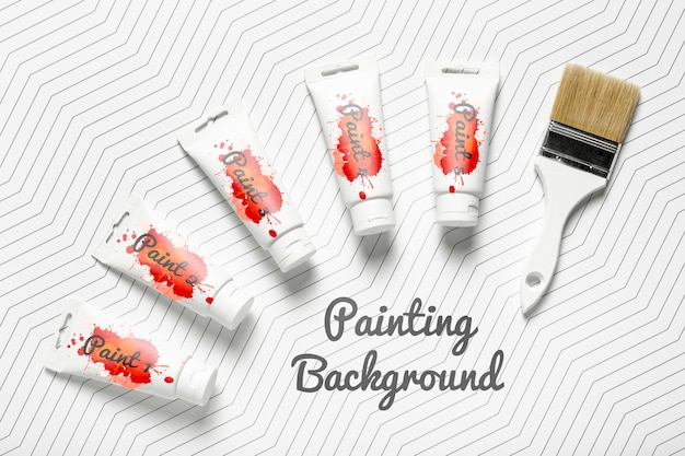 Maquete de conceito de pintura colorida Psd grátis