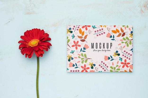 Maquete de conceito floral bonito Psd grátis