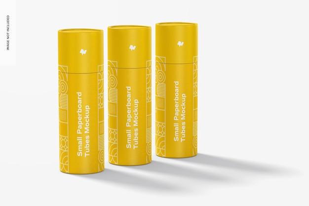 Maquete de conjunto de tubos de papelão pequeno Psd Premium
