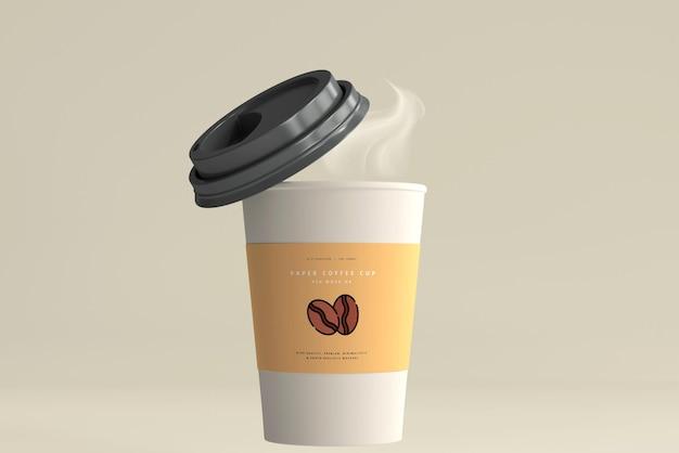 Maquete de copo de café de papel de tamanho médio Psd grátis