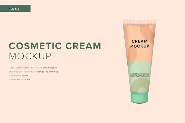 Maquete de creme cosmético em estilo de design moderno Psd Premium