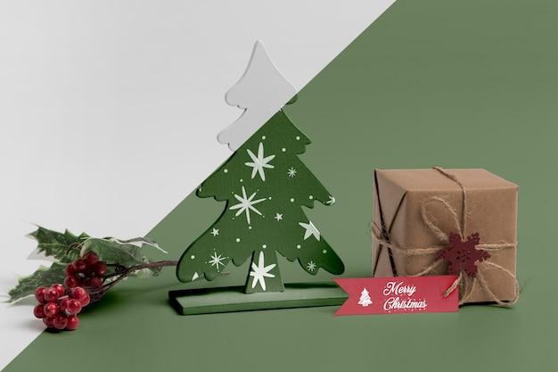 Maquete de decorações de natal Psd grátis