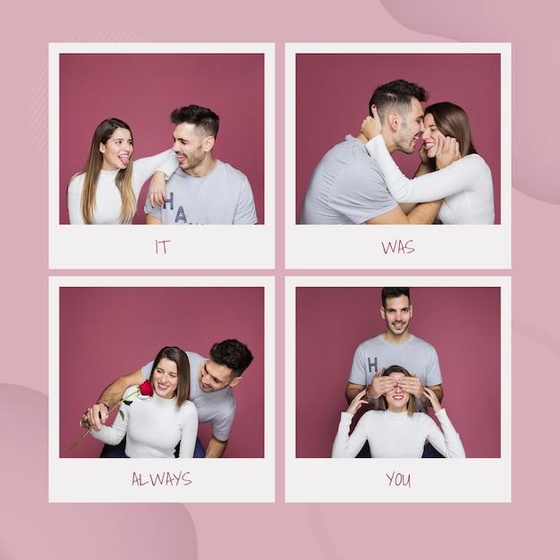 Maquete de dia dos namorados com imagens Psd grátis