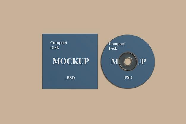 Maquete de disco compacto Psd Premium