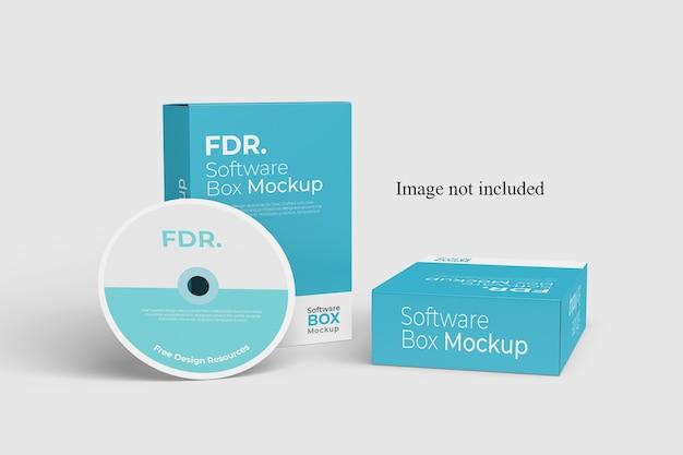 Maquete de duas caixas de software Psd Premium