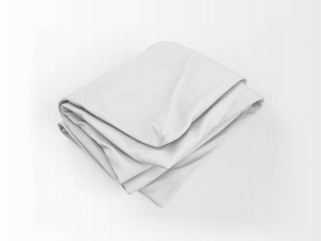 Maquete de edredon branco realista Psd grátis