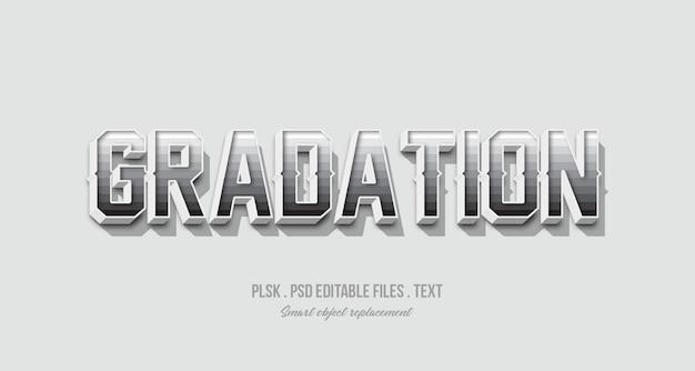Maquete de efeito de estilo de texto 3d de gradação Psd Premium
