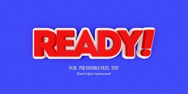 Maquete de efeito de estilo de texto 3d pronto Psd Premium