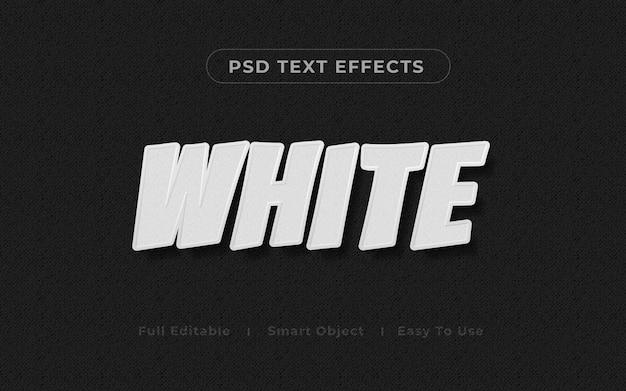 Maquete de efeito de texto 3d branco Psd Premium