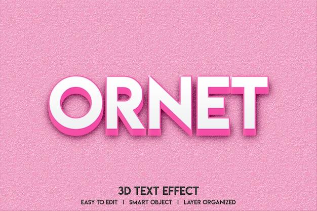 Maquete de efeito de texto 3d Psd Premium
