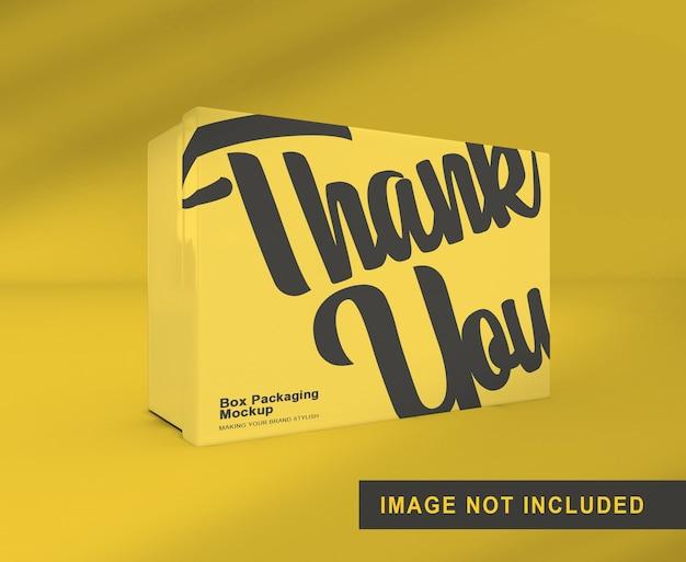 Maquete de embalagem de caixa em pé isolada Psd Premium