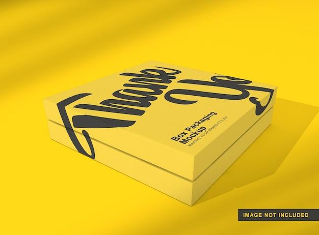 Maquete de embalagem de caixa isolada Psd Premium