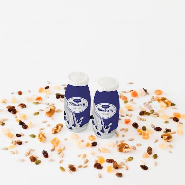 Maquete de embalagem de leite Psd grátis