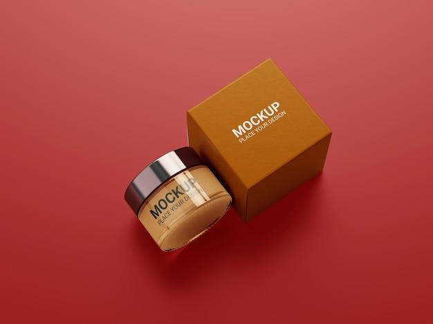 Maquete de embalagem de recipiente de creme cosmético Psd Premium