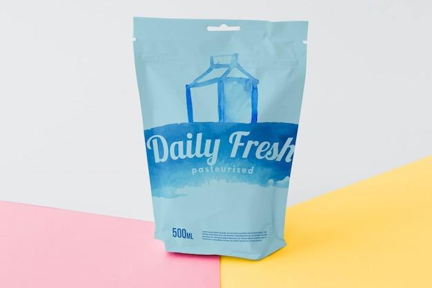 Maquete de embalagem de saco com zíper Psd grátis