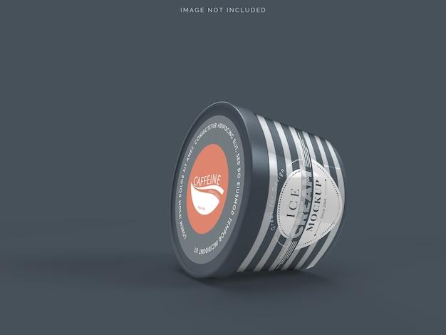 Maquete de embalagem de sorvete de xícara de maquete para sorvete Psd Premium