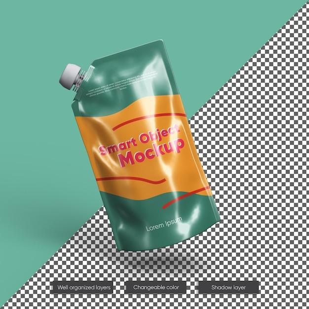 Maquete de embalagem de suco de folha de fruta Psd Premium