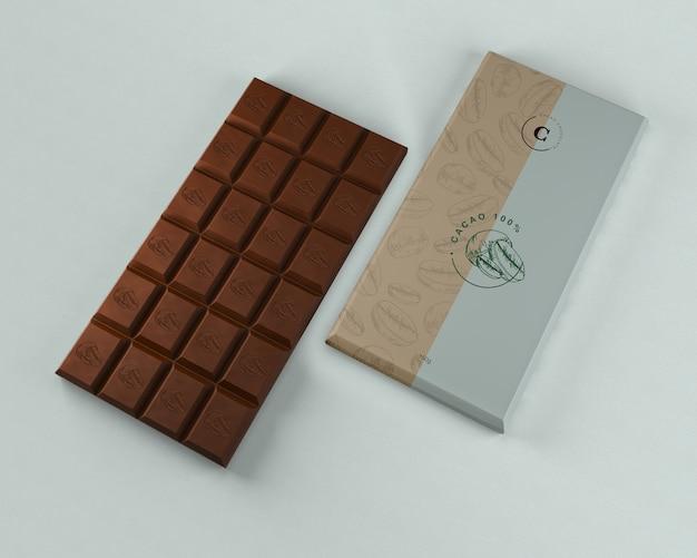 Maquete de embalagem de tablet de chocolate Psd grátis