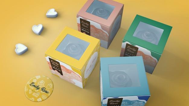 Maquete de embalagem e identidade visual Psd grátis