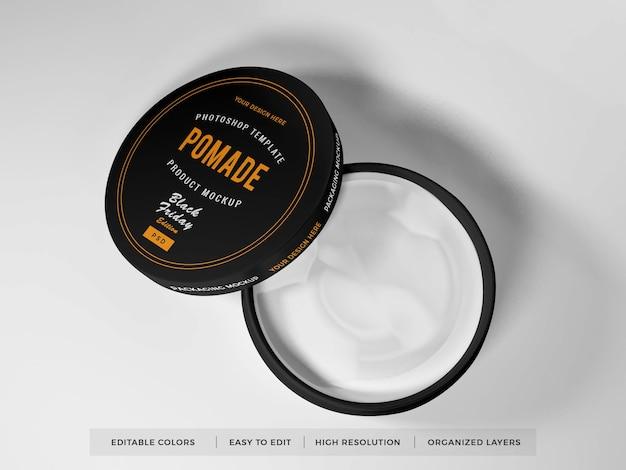 Maquete de embalagem realista para caixa redonda Psd Premium
