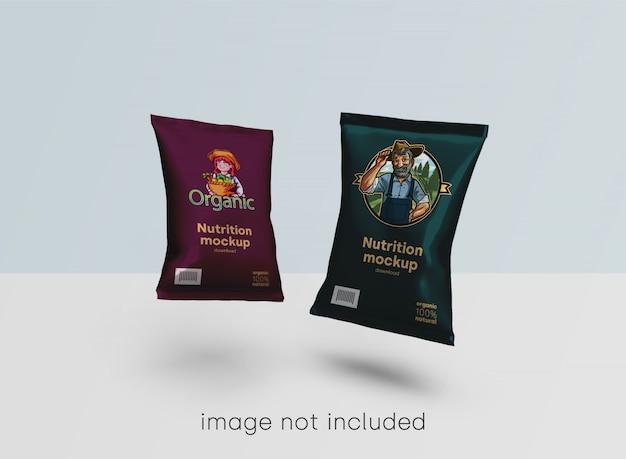 Maquete de embalagens de alimentos Psd grátis