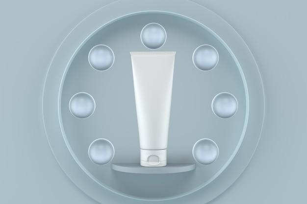 Maquete de embalagens de cosméticos em renderização 3d Psd Premium