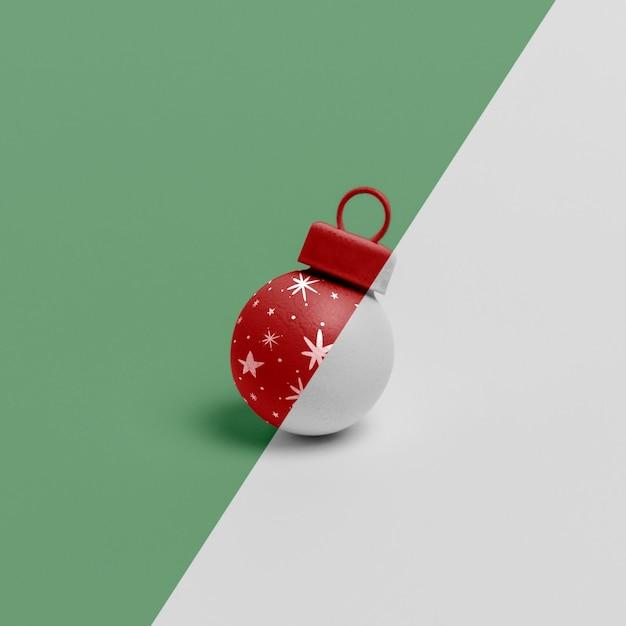 Maquete de enfeite de globo de natal Psd grátis