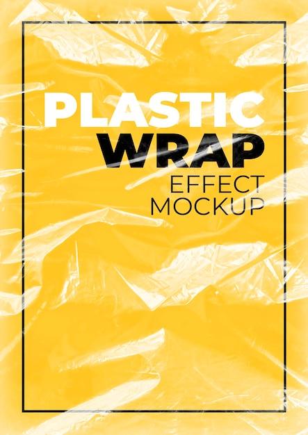 Maquete de envoltório plástico Psd grátis