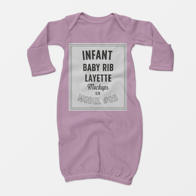 Maquete de enxoval de bebê infantil 05 Psd grátis