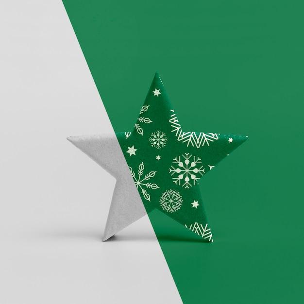 Maquete de estrela de natal ornamentais Psd grátis
