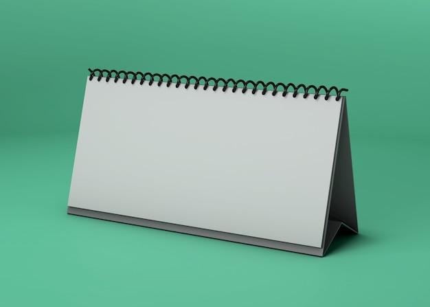 Maquete de estúdio de calendário horizontal Psd grátis