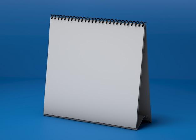 Maquete de estúdio de calendário quadrado Psd grátis