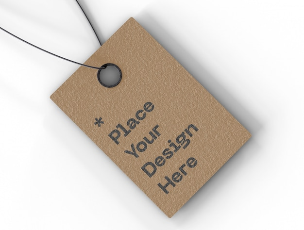 Maquete de etiqueta de preço de etiqueta Psd grátis
