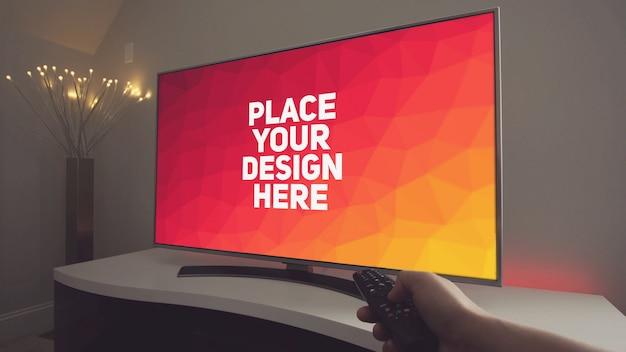 Maquete de exibição de televisão Psd Premium