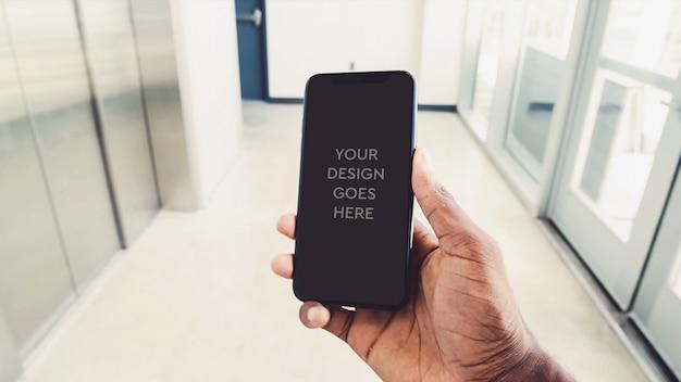 Maquete de exibição do telefone Psd grátis