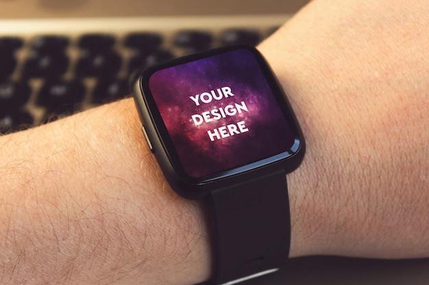 Maquete de exibição smartwatch Psd Premium