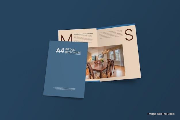 Maquete de folheto a4 bi dobra Psd Premium