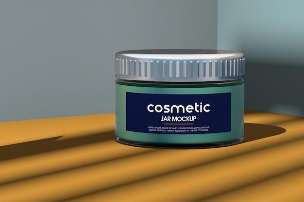 Maquete de frasco cosmético de vidro fosco isolado Psd Premium