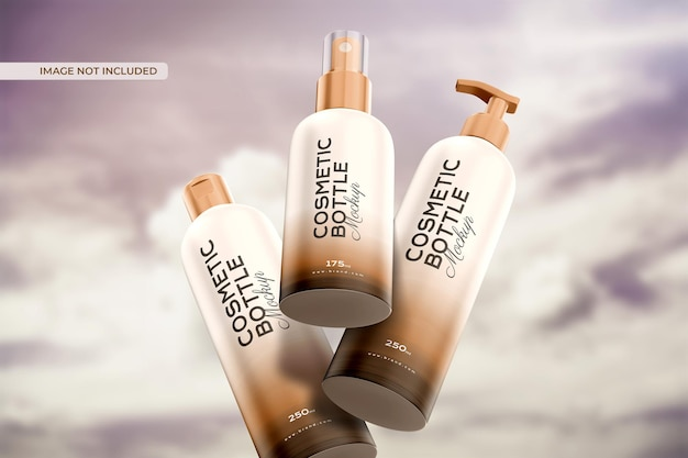 Maquete de frasco cosmético Psd Premium
