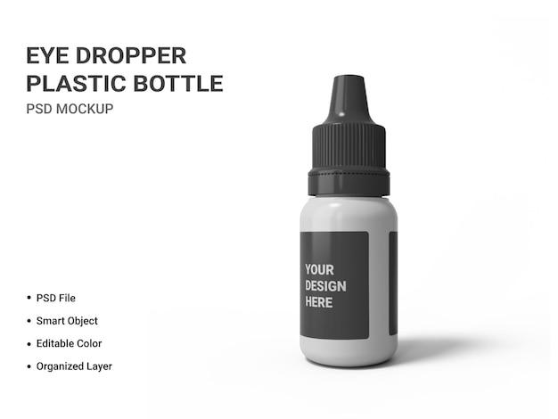 Maquete de frasco de plástico com conta-gotas isolado Psd Premium