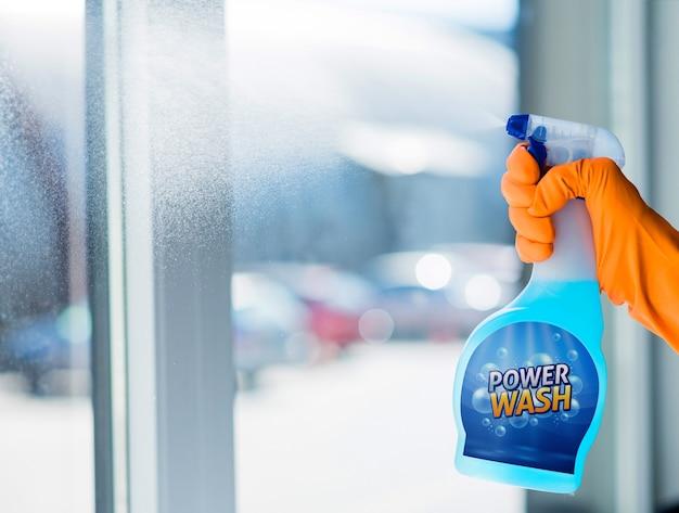 Maquete de frasco de spray Psd grátis