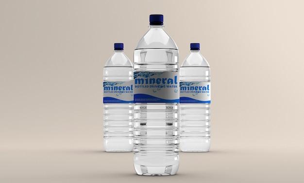 Maquete de garrafa de água Psd Premium