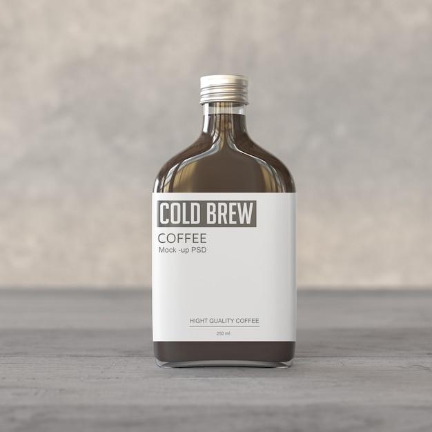 Maquete de garrafa de café gelado Psd Premium